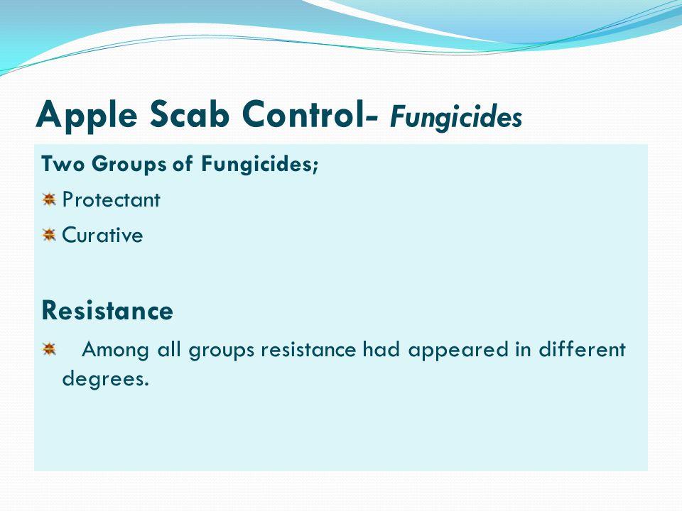 Apple Scab Control- Fungicides