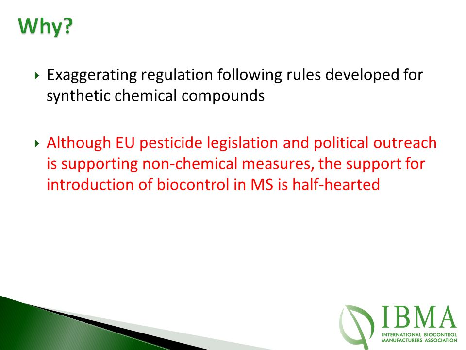 Why Exaggerating regulation following rules developed for synthetic chemical compounds.