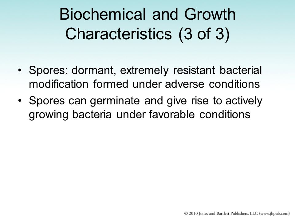 Biochemical and Growth Characteristics (3 of 3)