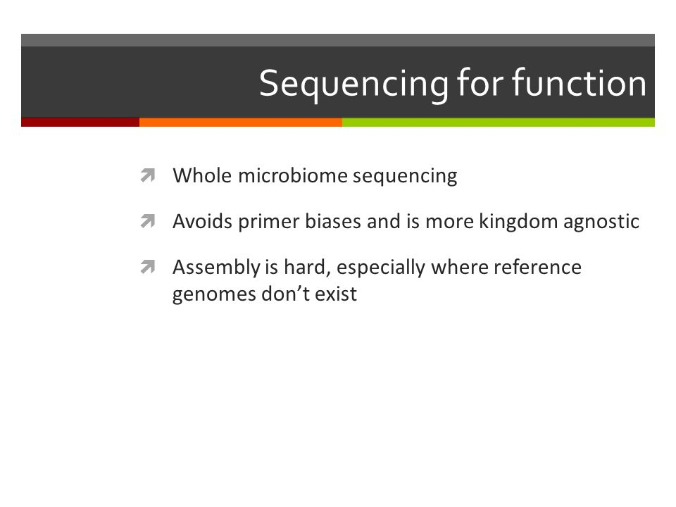 Sequencing for function