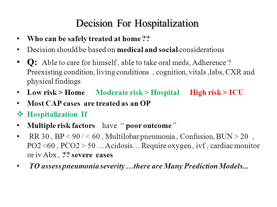 Decision For Hospitalization