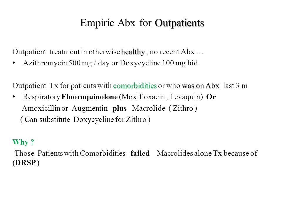 Empiric Abx for Outpatients