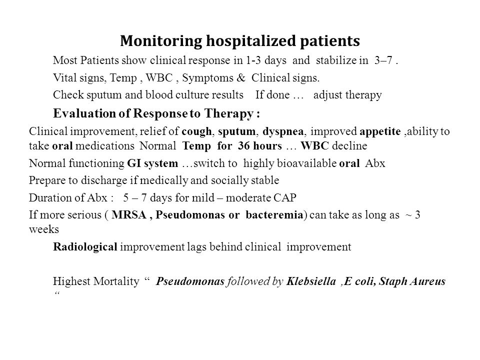 Monitoring hospitalized patients