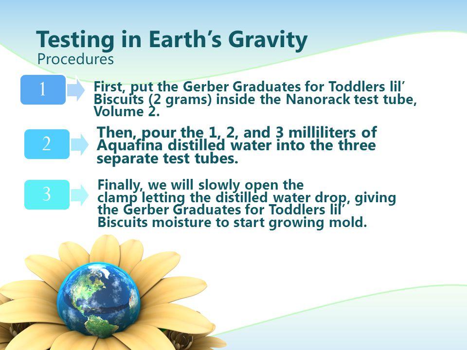Testing in Earth's Gravity