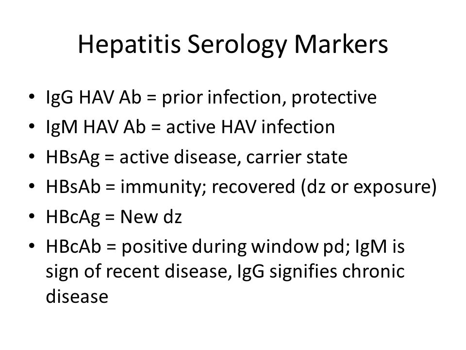 Hepatitis Serology Markers
