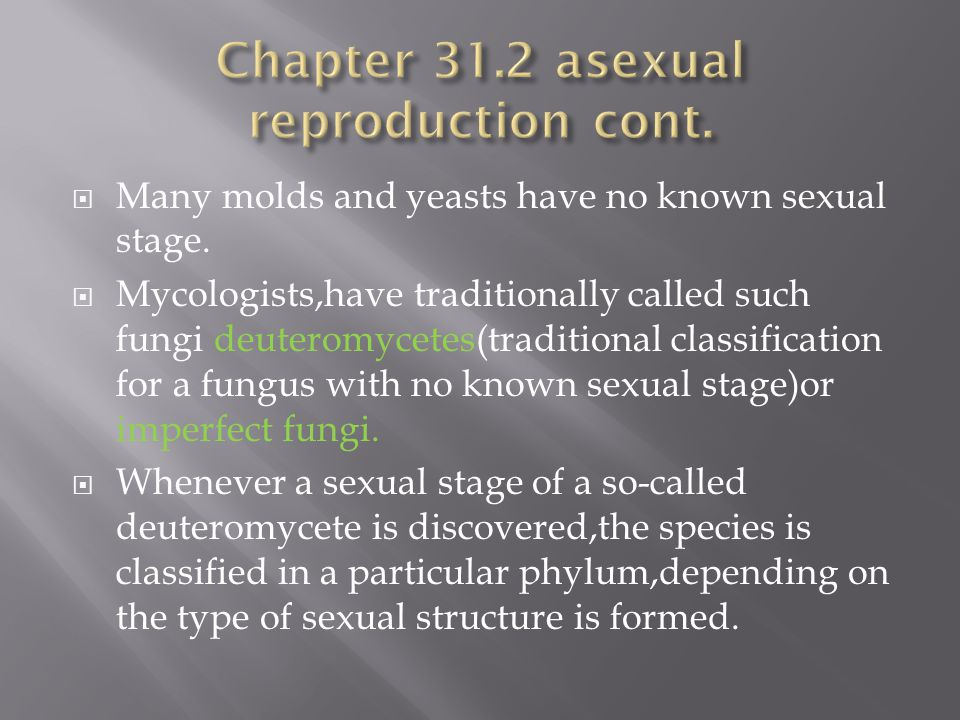 Chapter 31.2 asexual reproduction cont.