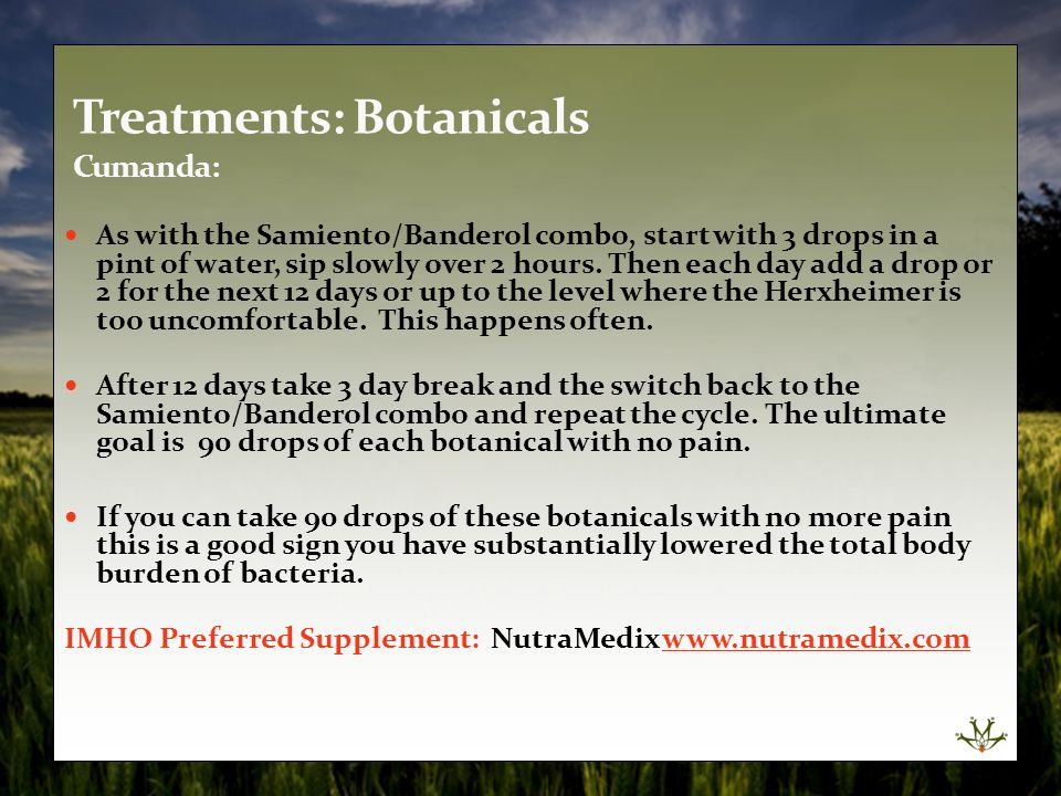 Treatments: Botanicals Cumanda: