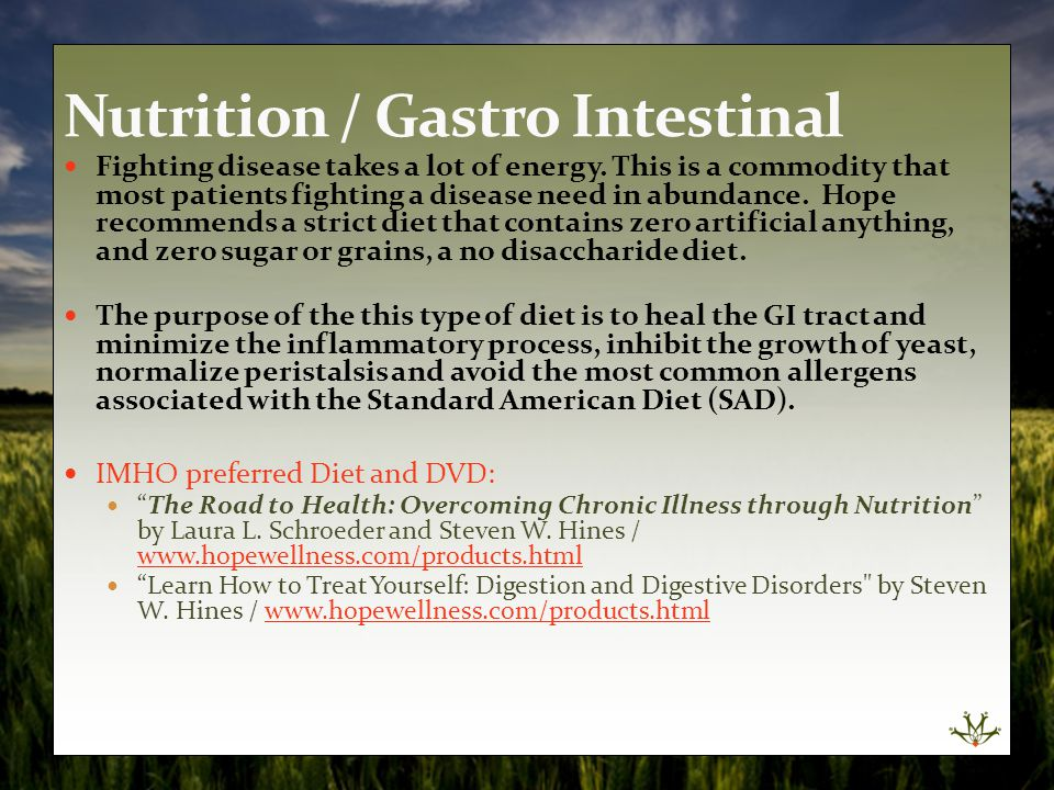 Nutrition / Gastro Intestinal
