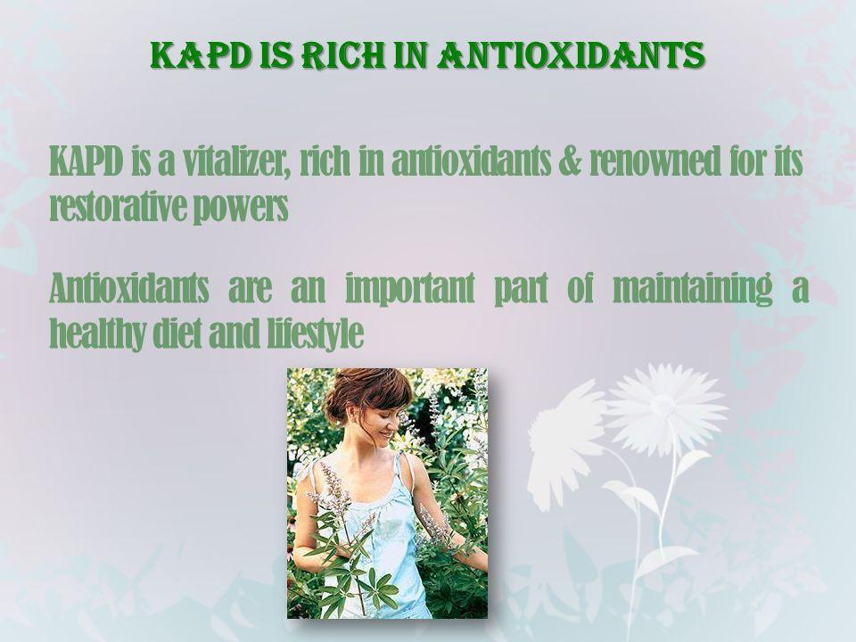 KAPD is rich in antioxidants