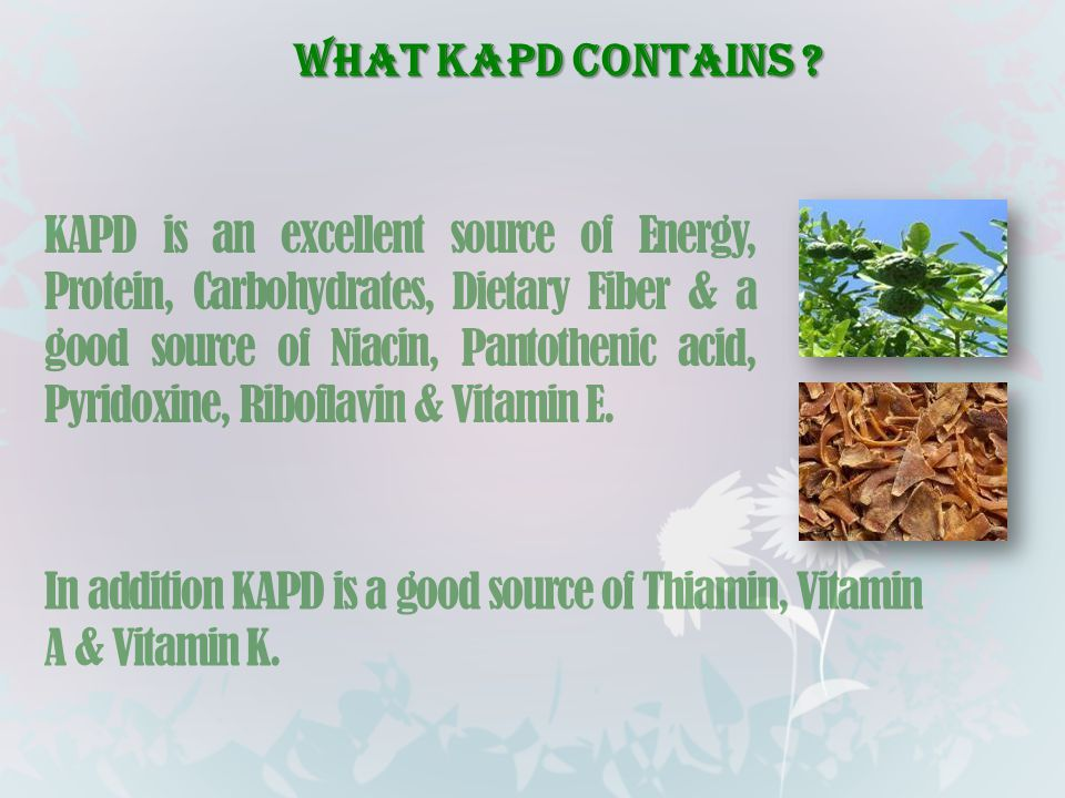 WHAT KAPD CONTAINS