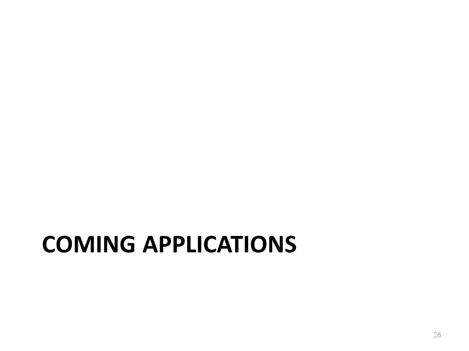 Coming applications