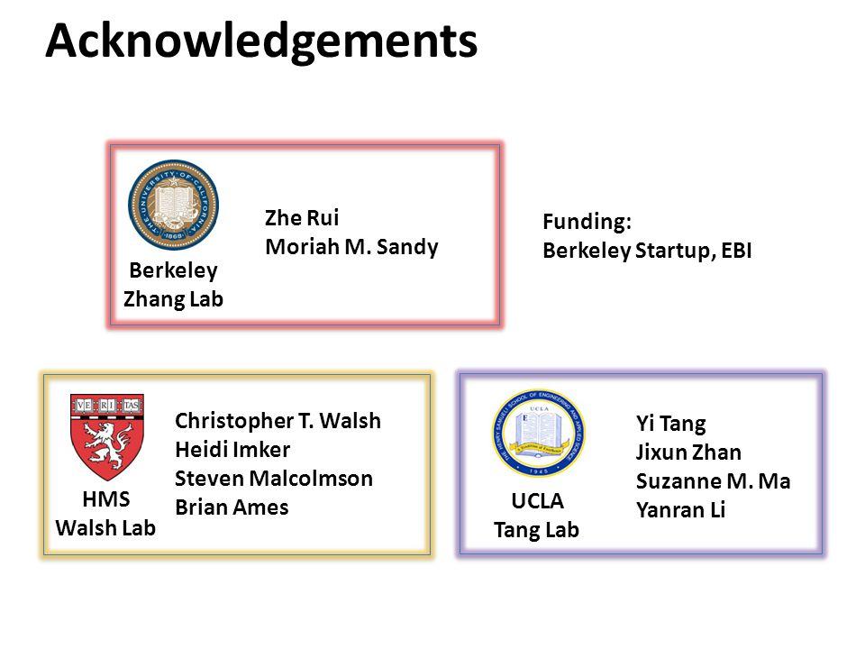 Acknowledgements Zhe Rui Funding: Moriah M. Sandy