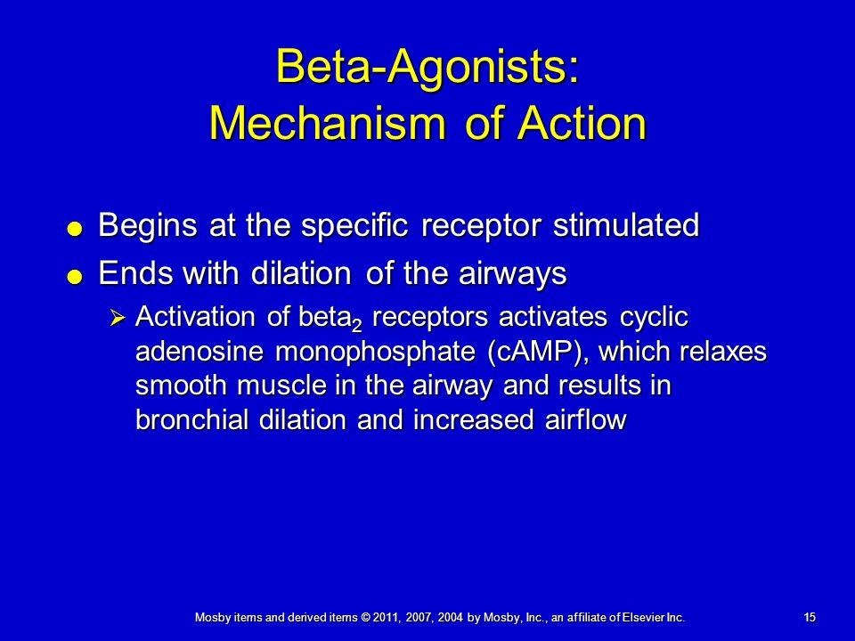 Beta-Agonists: Mechanism of Action