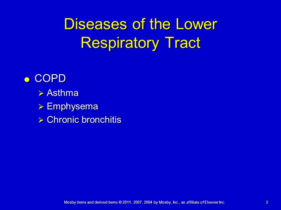 Diseases of the Lower Respiratory Tract