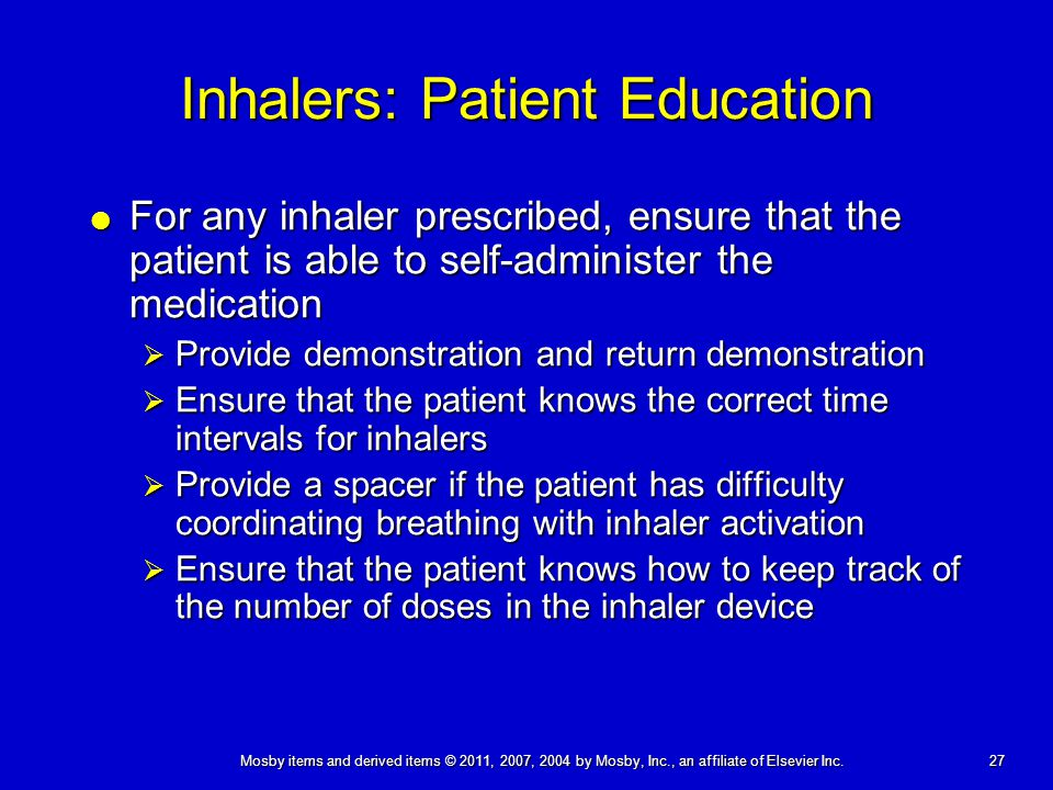 Inhalers: Patient Education