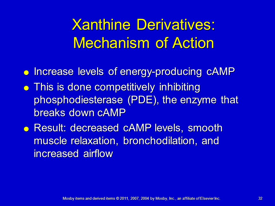 Xanthine Derivatives: Mechanism of Action