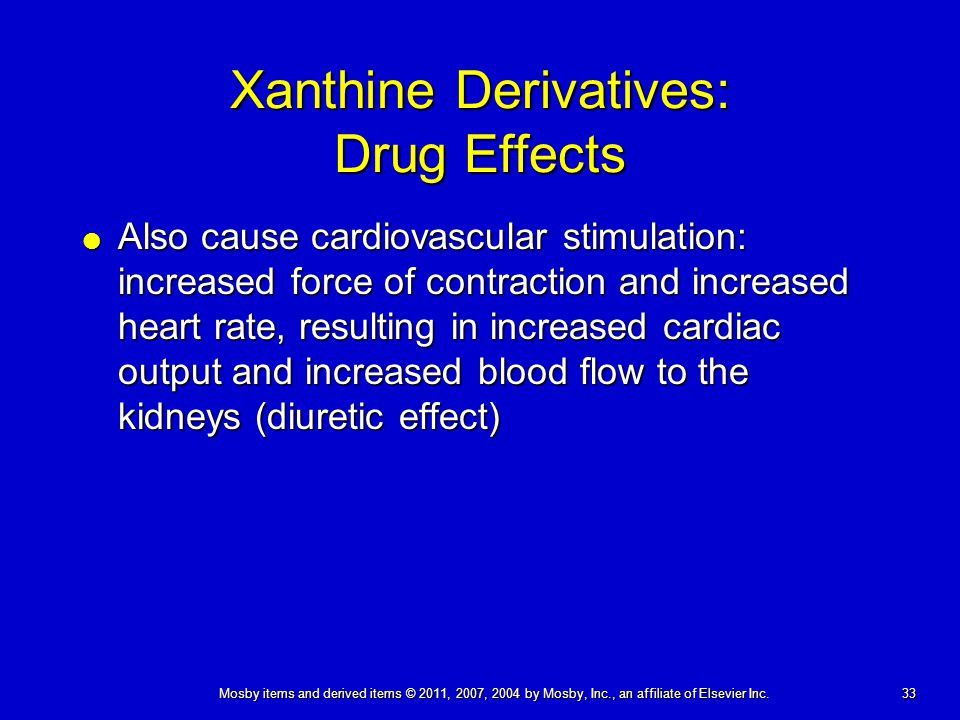Xanthine Derivatives: Drug Effects