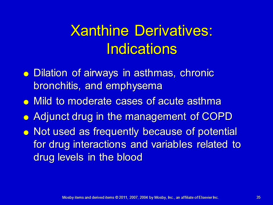 Xanthine Derivatives: Indications