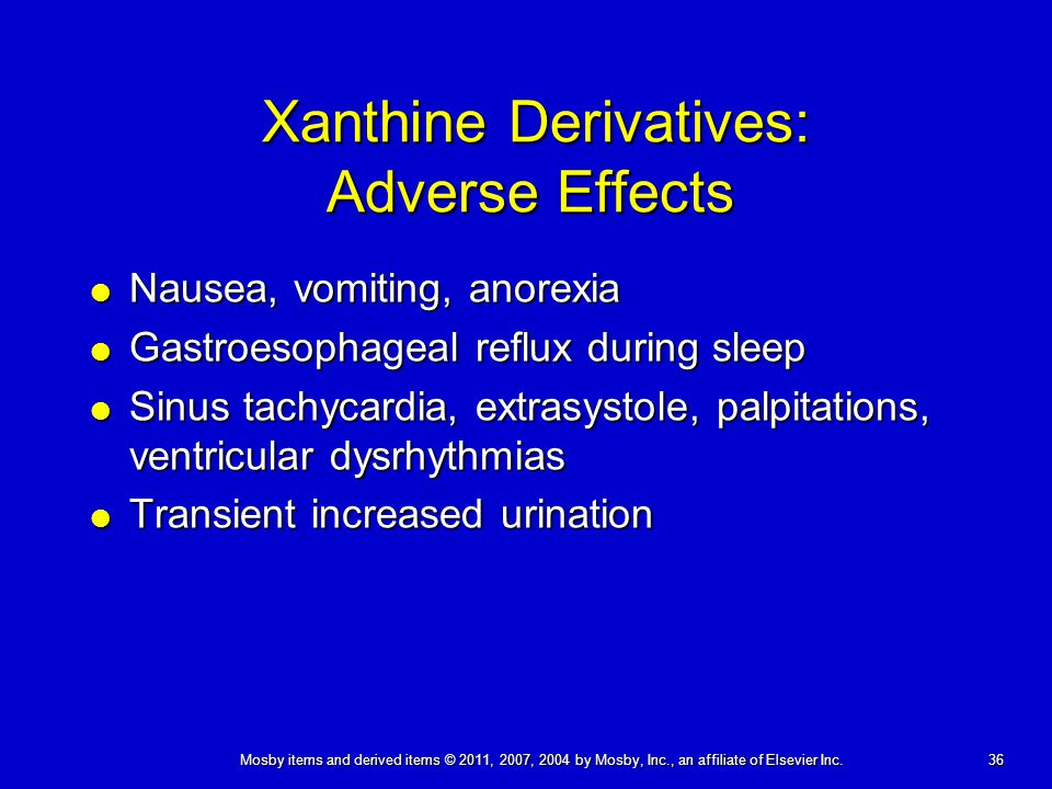 Xanthine Derivatives: Adverse Effects