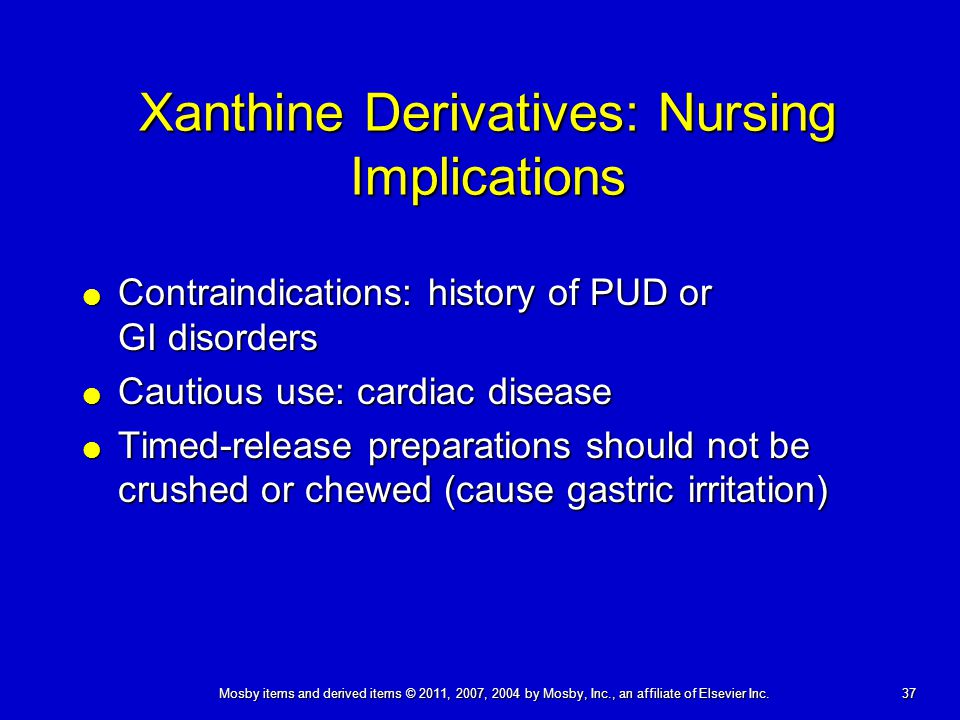 Xanthine Derivatives: Nursing Implications