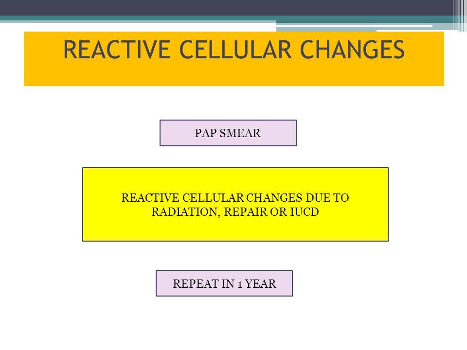 REACTIVE CELLULAR CHANGES