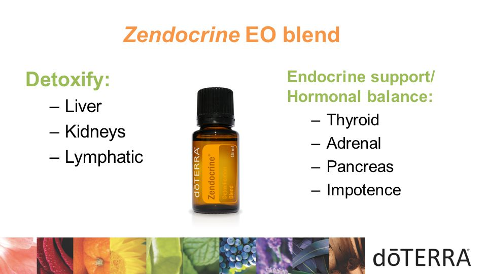 Zendocrine EO blend Detoxify:  Liver Kidneys Lymphatic