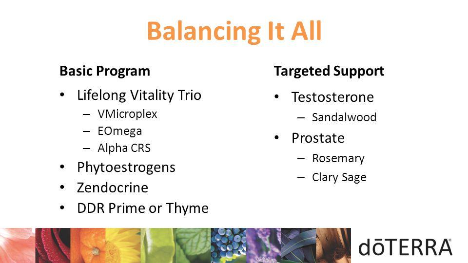 Balancing It All Basic Program Targeted Support Lifelong Vitality Trio