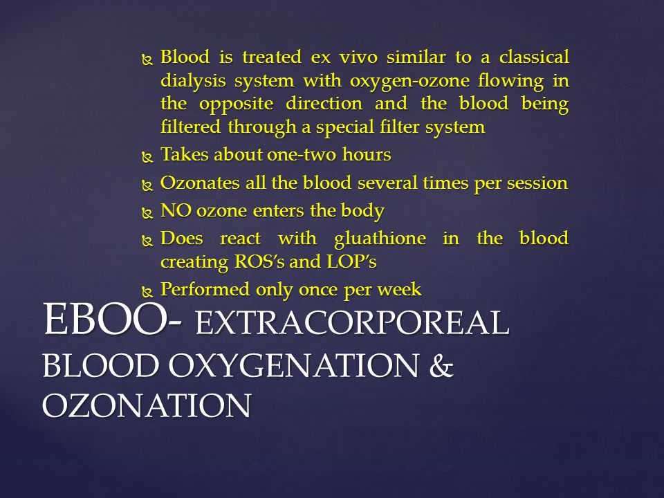 EBOO- EXTRACORPOREAL BLOOD OXYGENATION & OZONATION