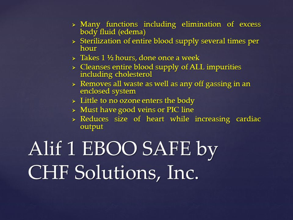 Alif 1 EBOO SAFE by CHF Solutions, Inc.
