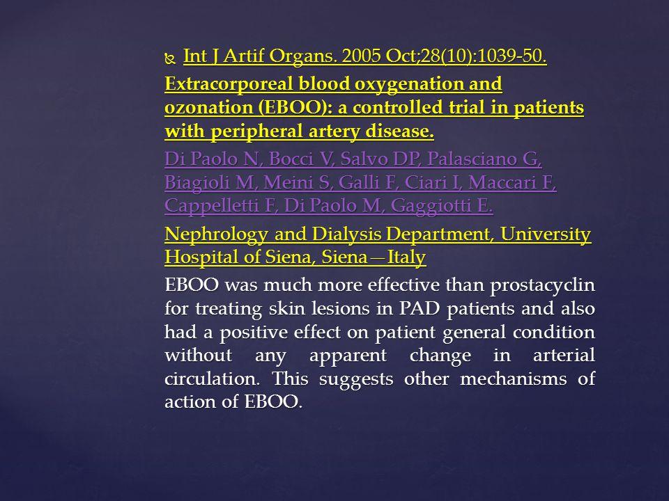 Int J Artif Organs. 2005 Oct;28(10):1039-50.