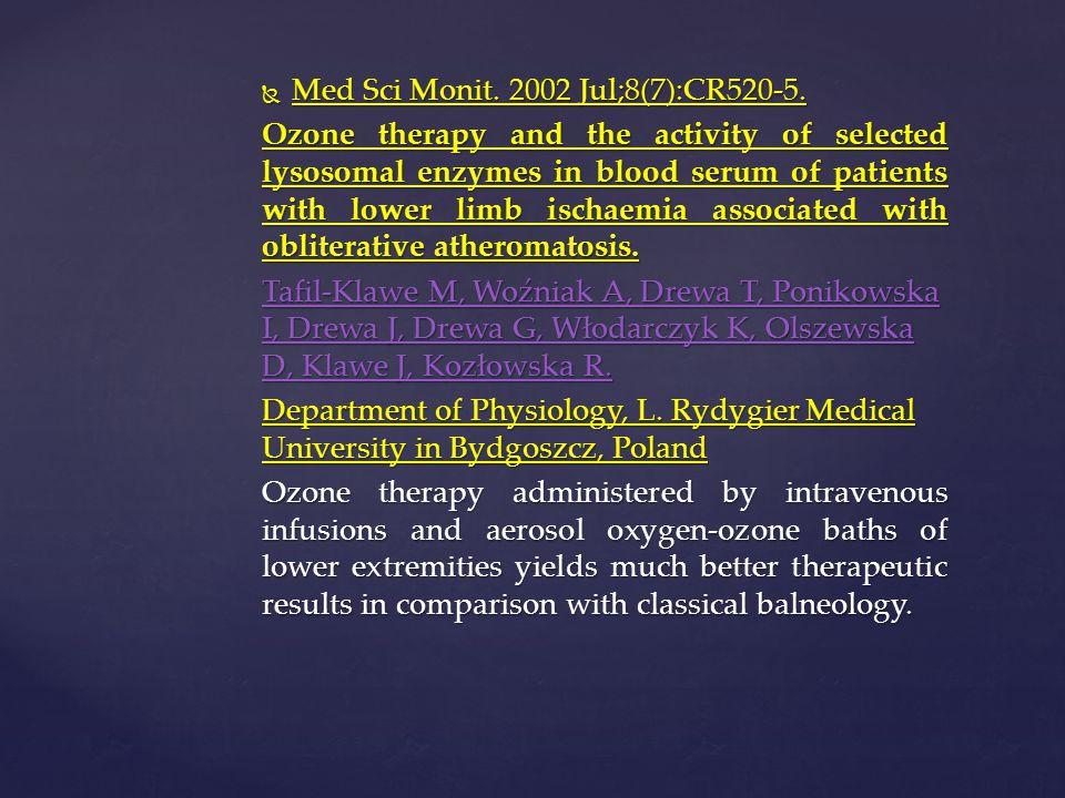 Med Sci Monit. 2002 Jul;8(7):CR520-5.
