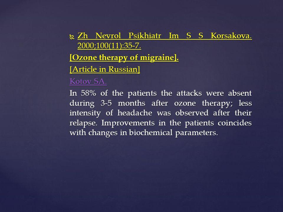 Zh Nevrol Psikhiatr Im S S Korsakova. 2000;100(11):35-7.
