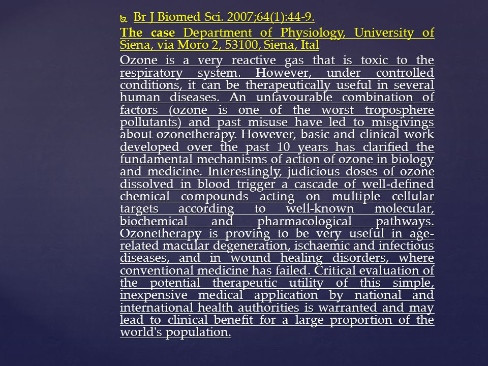 Br J Biomed Sci. 2007;64(1):44-9. The case Department of Physiology, University of Siena, via Moro 2, 53100, Siena, Ital.