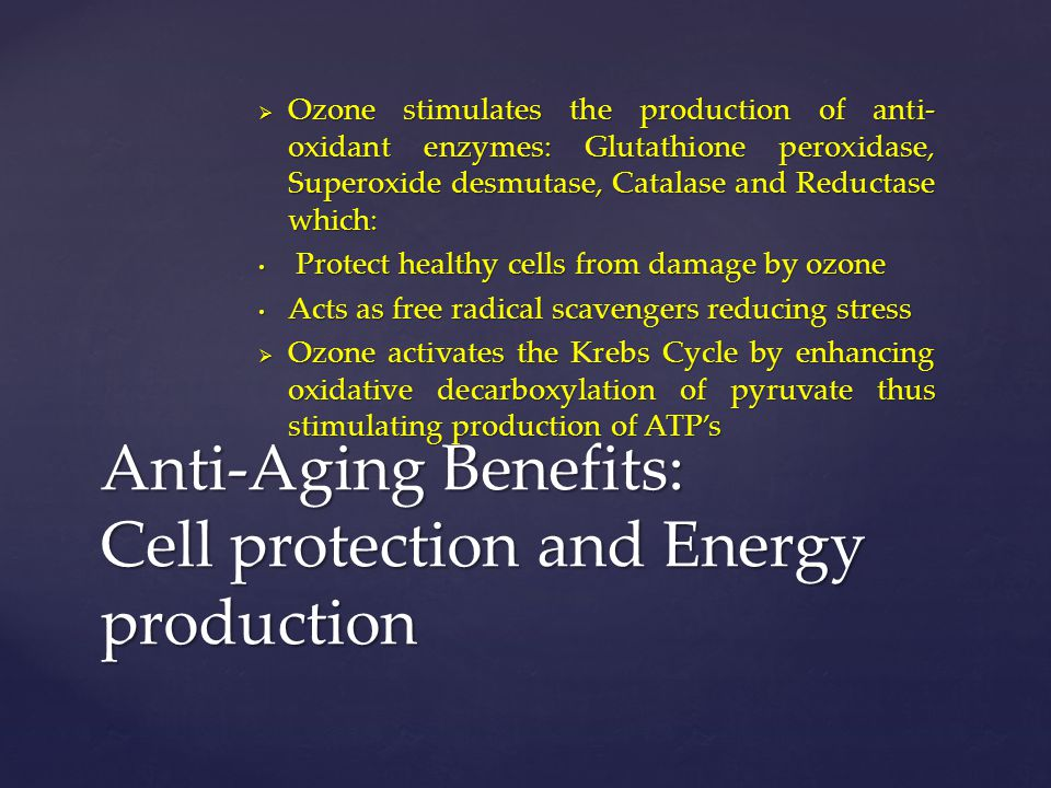Anti-Aging Benefits: Cell protection and Energy production
