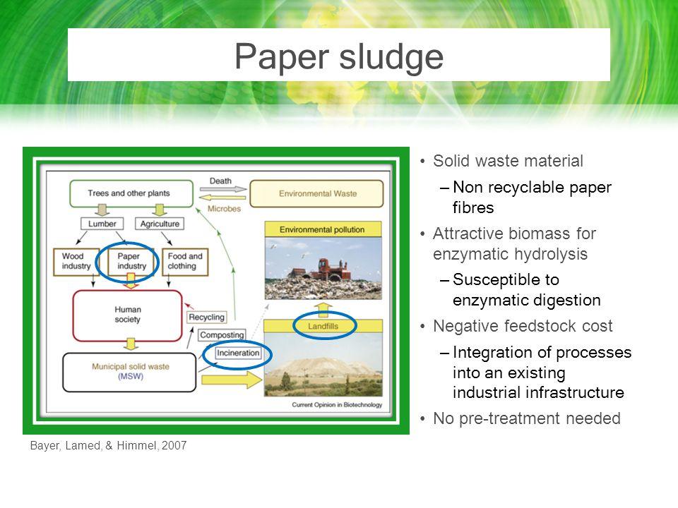 Paper sludge Solid waste material Non recyclable paper fibres