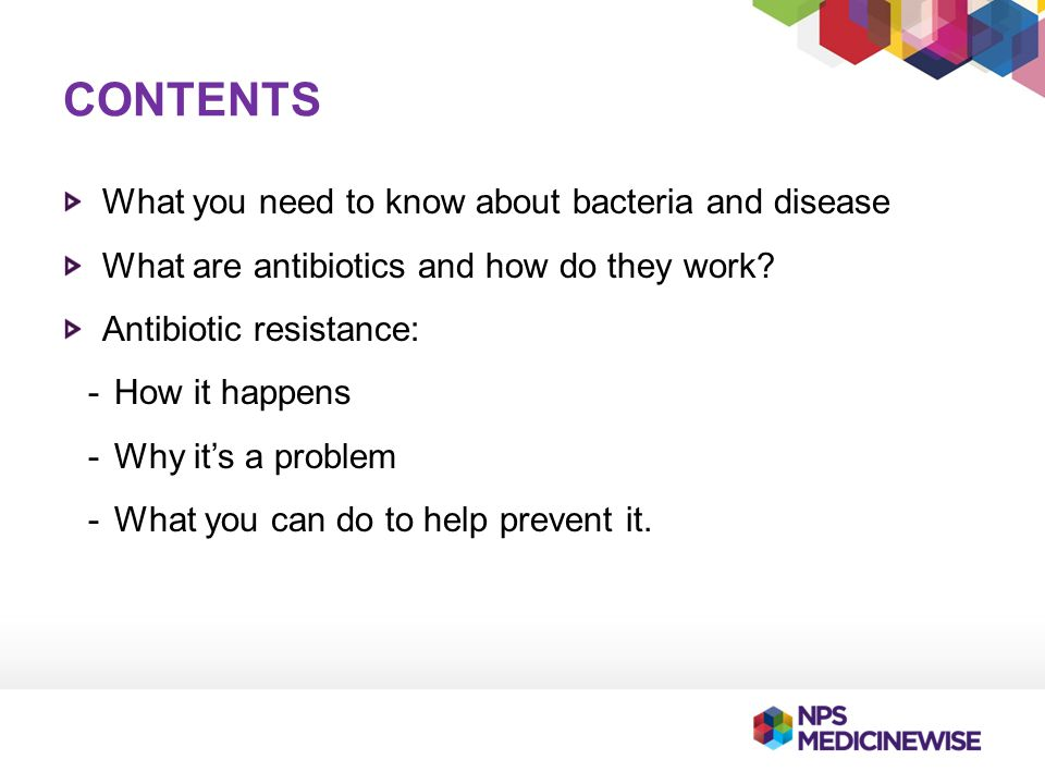 Contents What you need to know about bacteria and disease