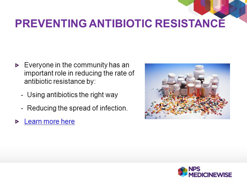 Preventing antibiotic resistance