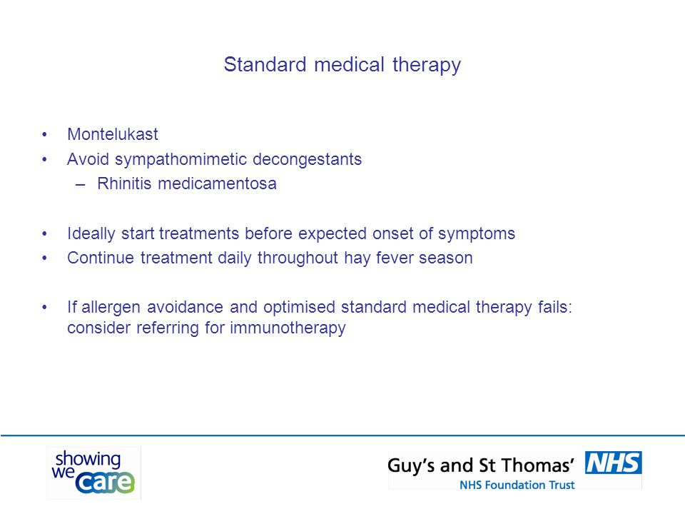 Standard medical therapy