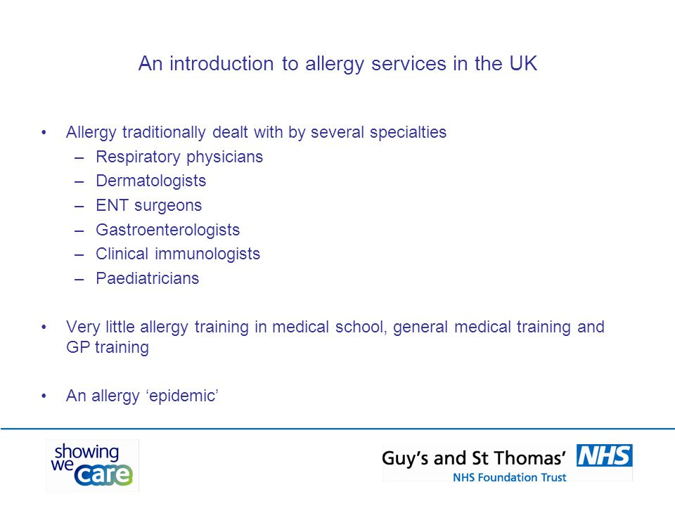 An introduction to allergy services in the UK