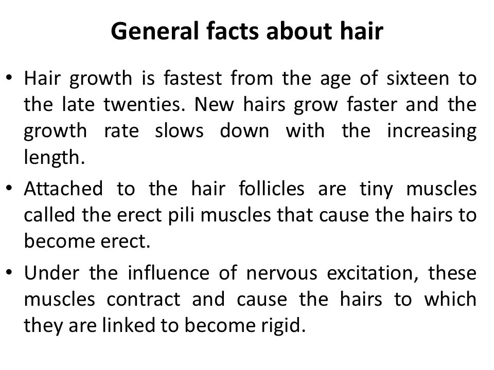 General facts about hair