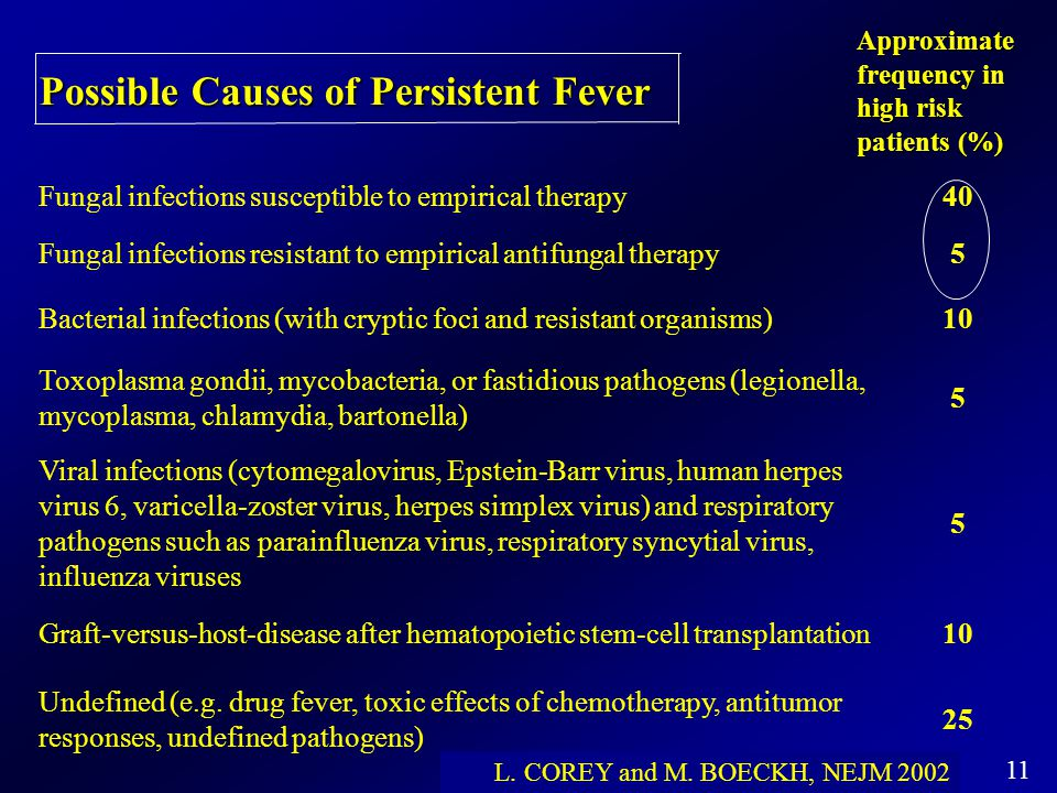 Possible Causes of Persistent Fever