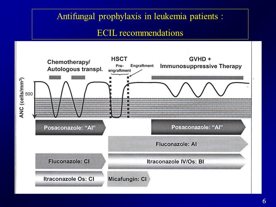 Antifungal prophylaxis in leukemia patients :