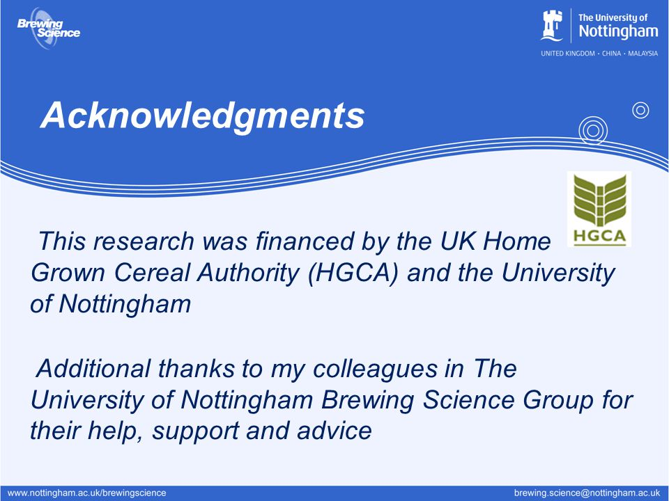 Acknowledgments This research was financed by the UK Home Grown Cereal Authority (HGCA) and the University of Nottingham.
