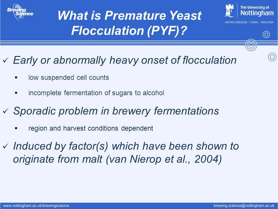 What is Premature Yeast Flocculation (PYF)
