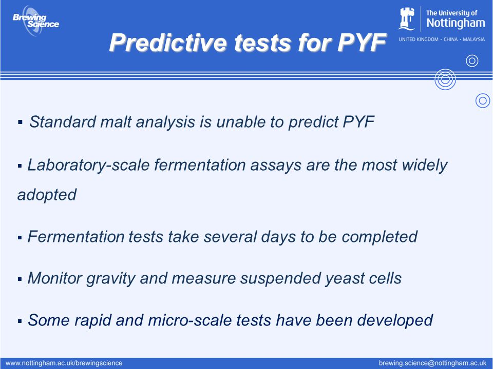 Predictive tests for PYF
