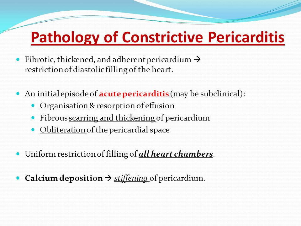 Pathology of Constrictive Pericarditis