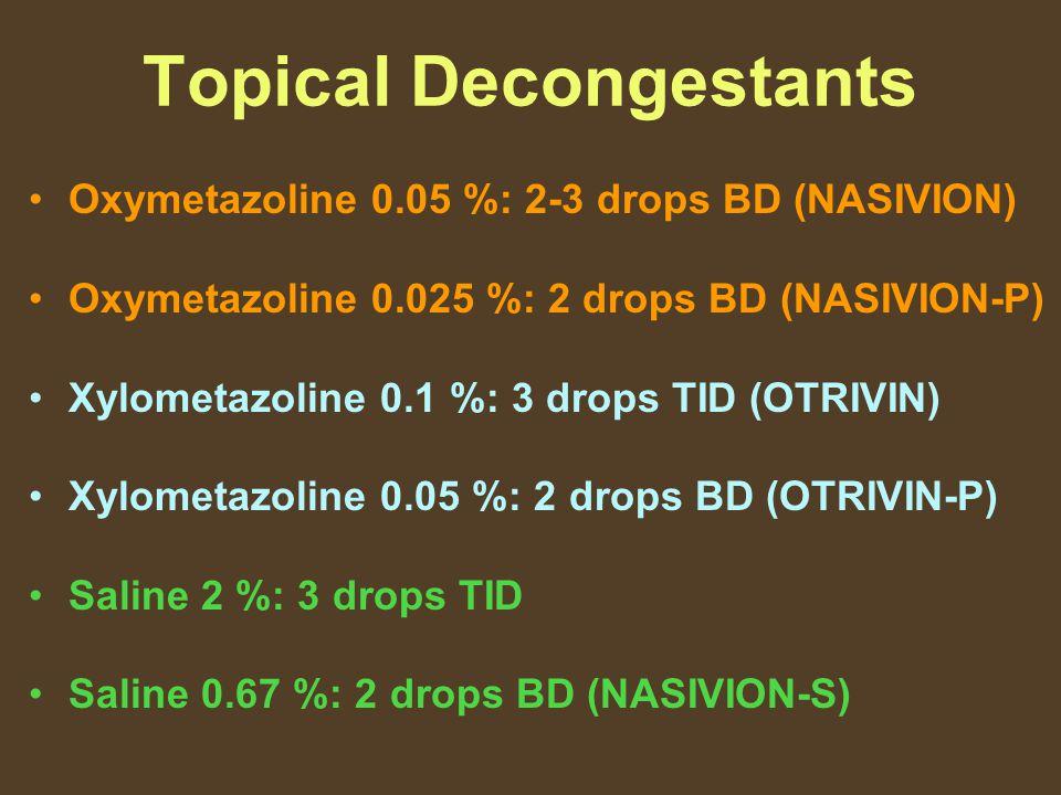 Topical Decongestants