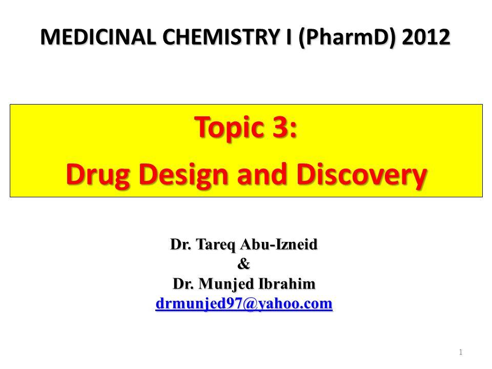 MEDICINAL CHEMISTRY I (PharmD) 2012