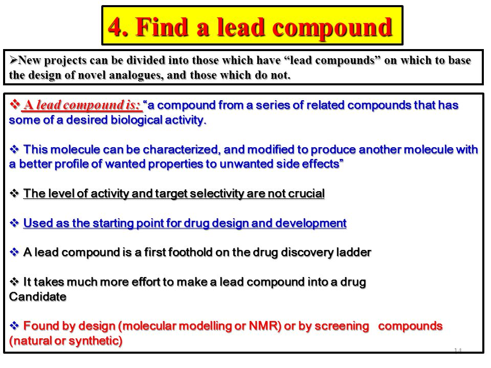 4. Find a lead compound