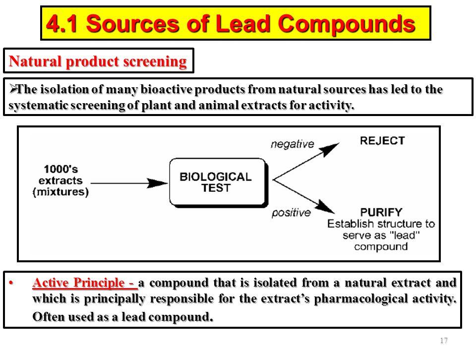 4.1 Sources of Lead Compounds